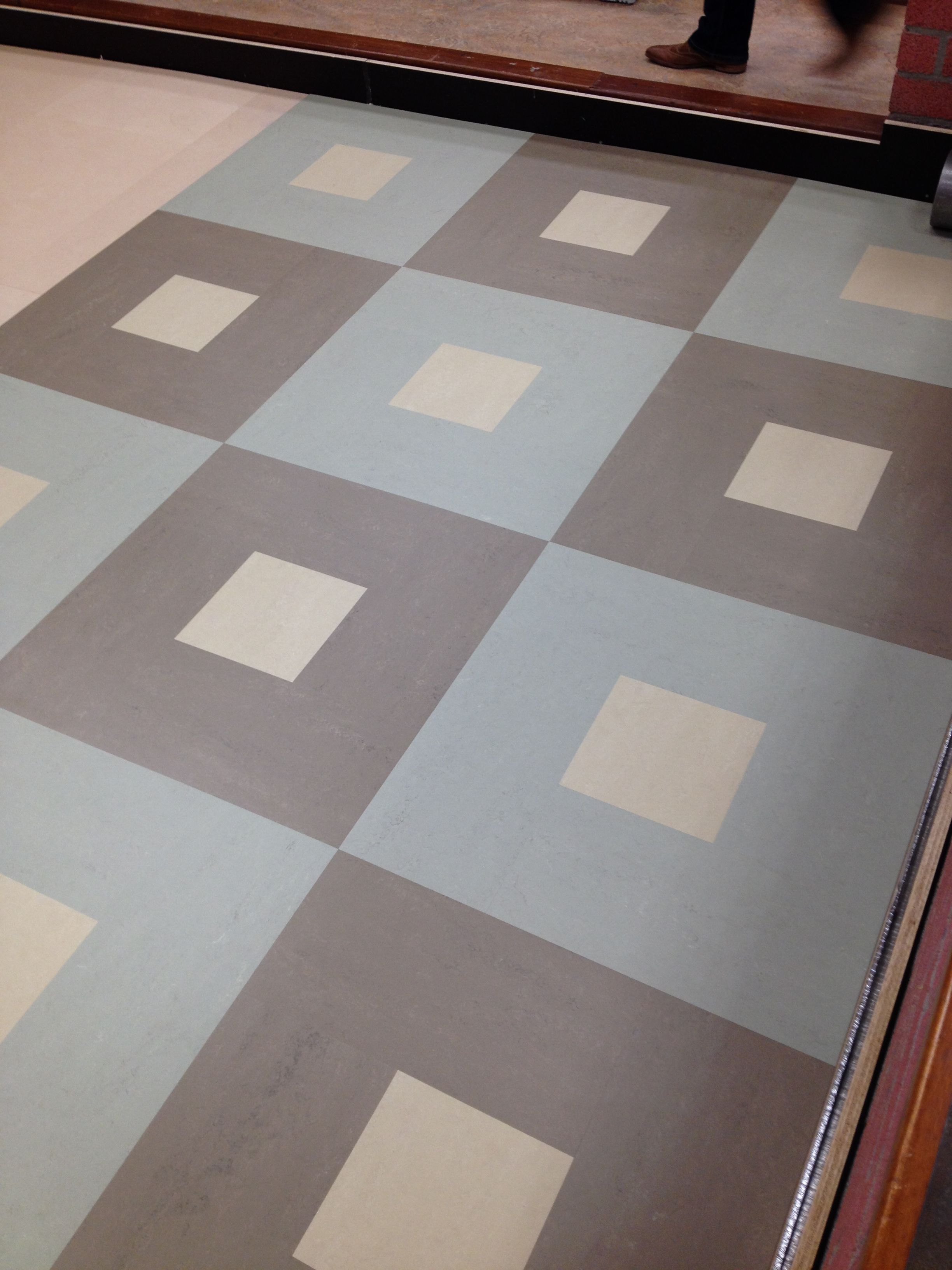 Marmoleum Modular Patterned floor tiles, Vct flooring