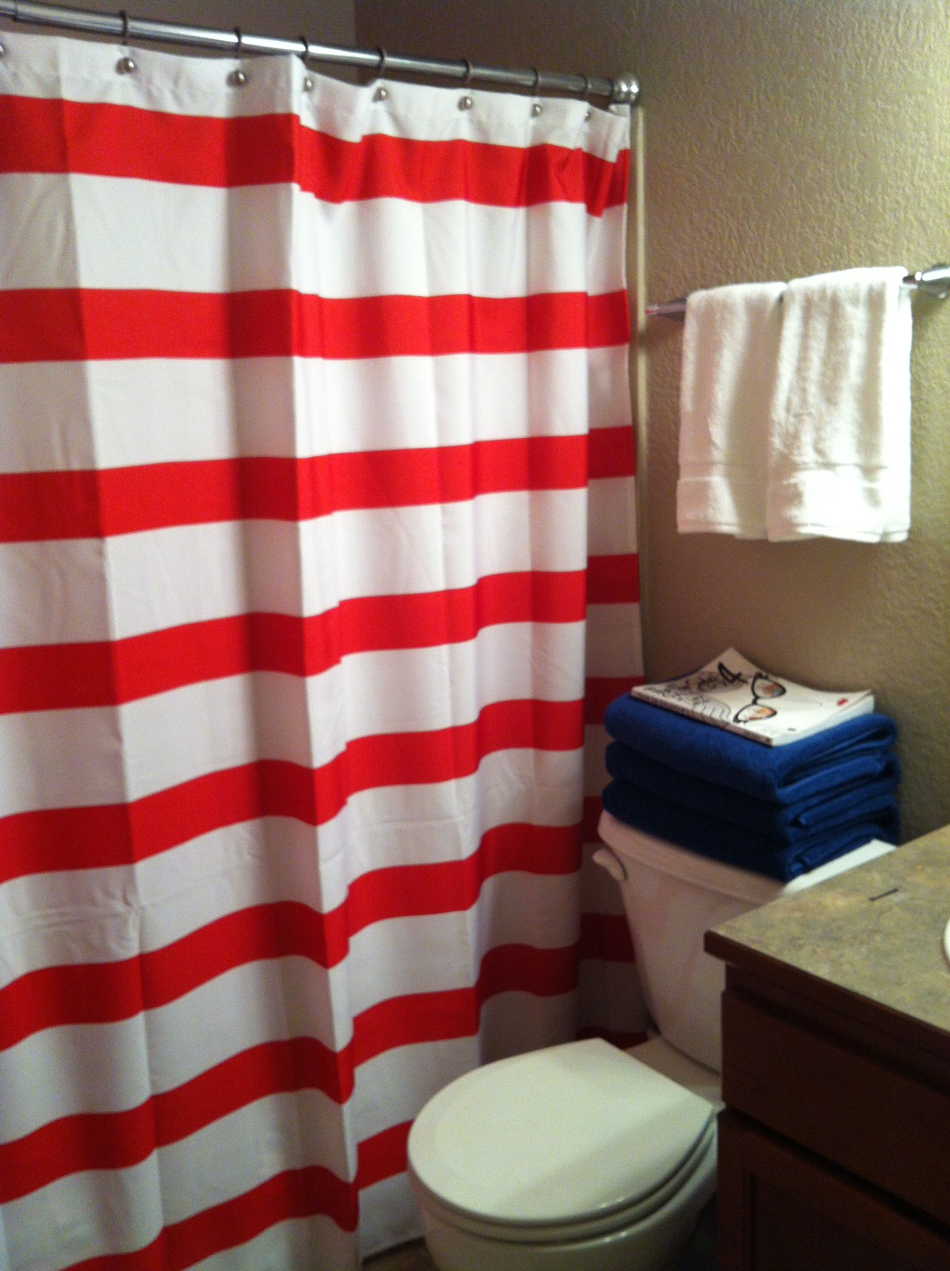 Hey You Have This Shower Curtain Though Your Stripes Seem Thicker