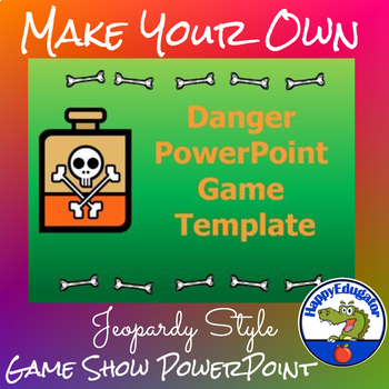 Game Show PowerPoint Template Similar to Jeopardy in