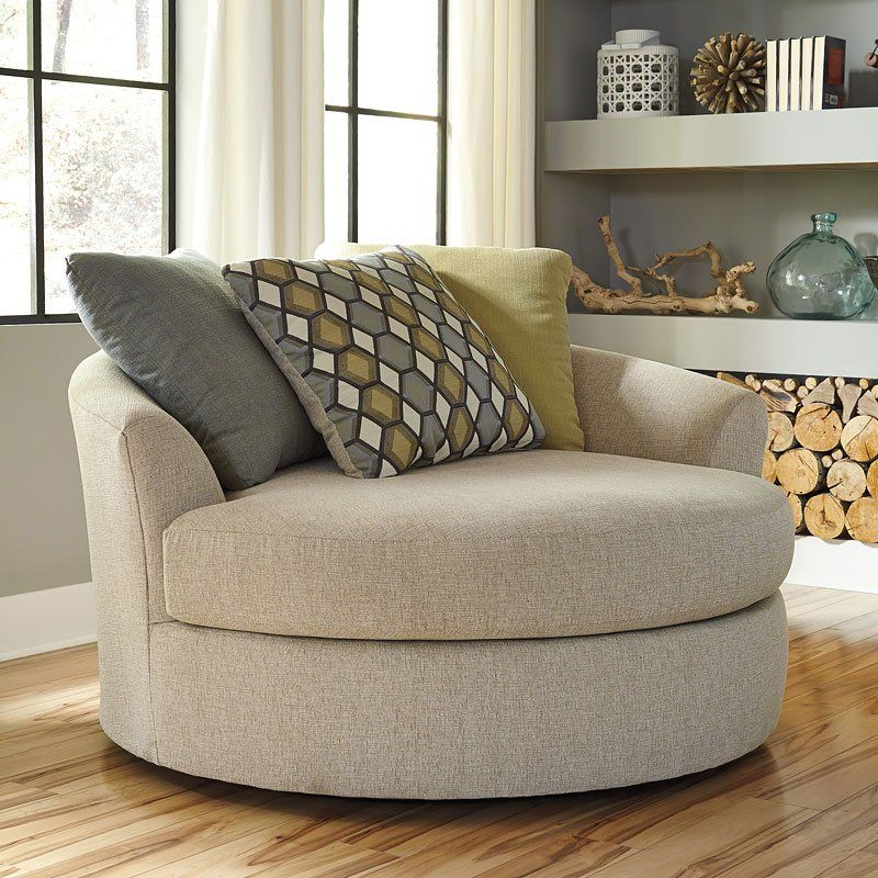 The Casheral - Linen Oversized Swivel Accent Chair by ...