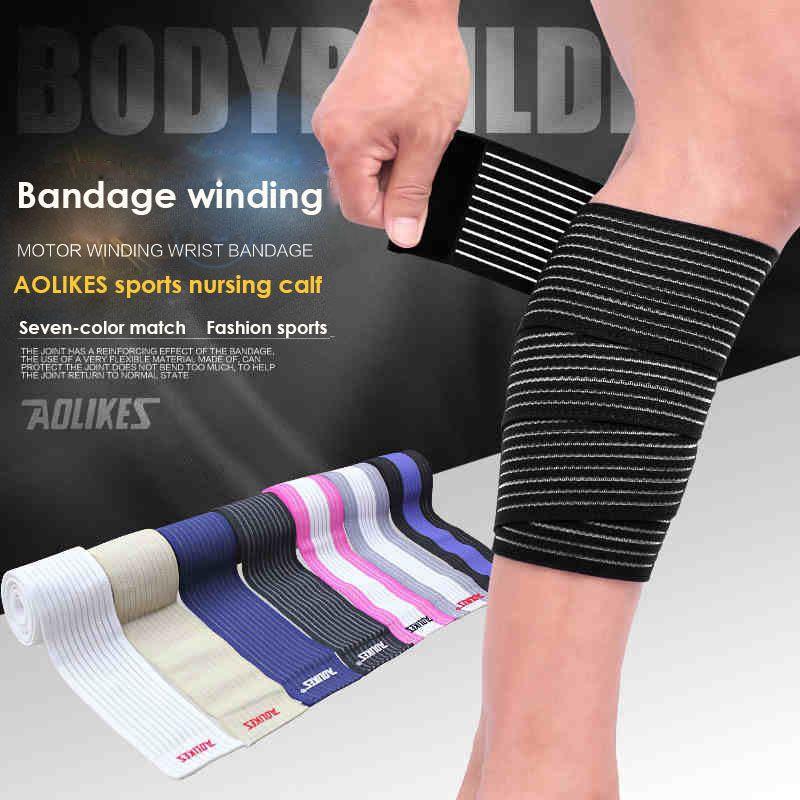 1pcs 9075cm powerlifting elastic bandage leg compression