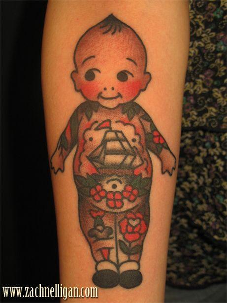Black Baby Doll Tattoo: Kewpie Tattoo, Doll Tattoo