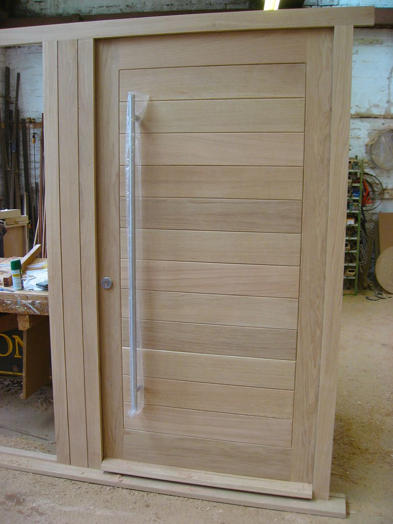One of a pair of doorsets made from solid European oak. Modern ... Solid Oak External Door Sets on