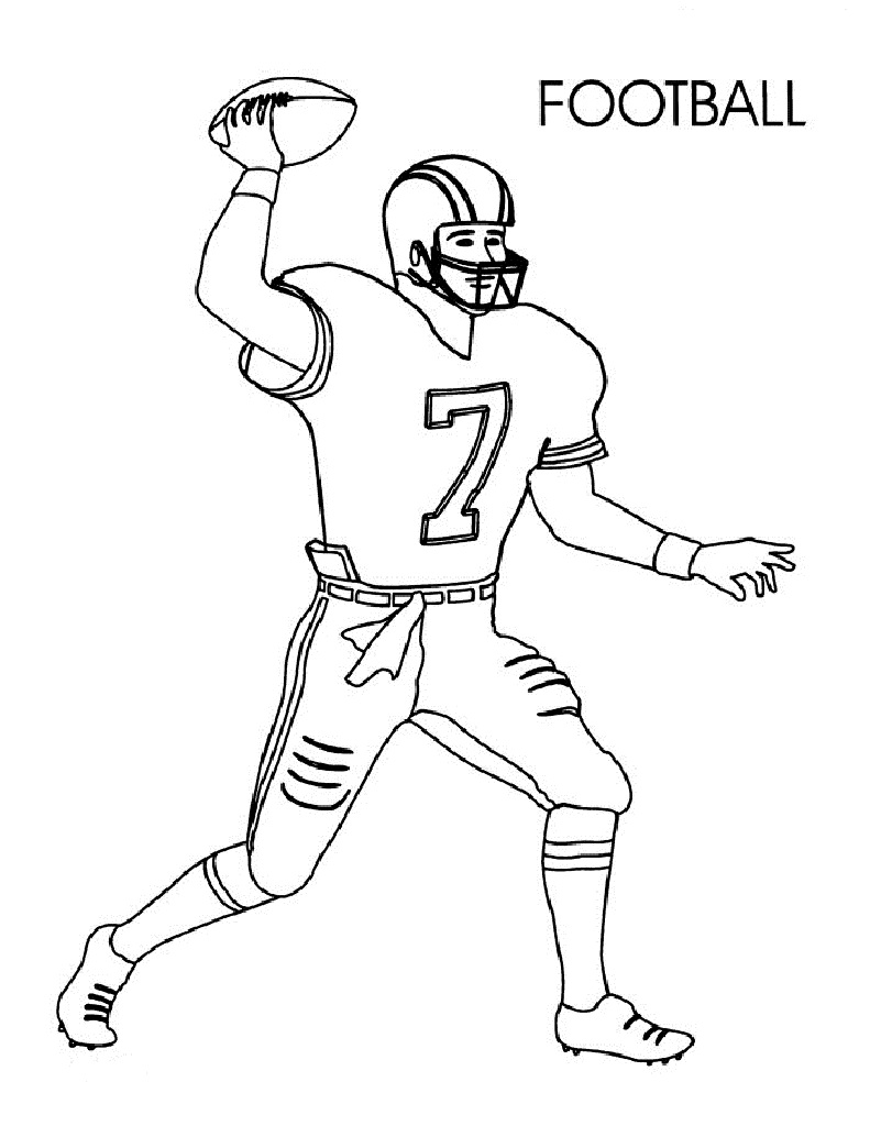 Football Coloring Pages For Preschoolers Football Coloring Pages Sports Coloring Pages Coloring Pages