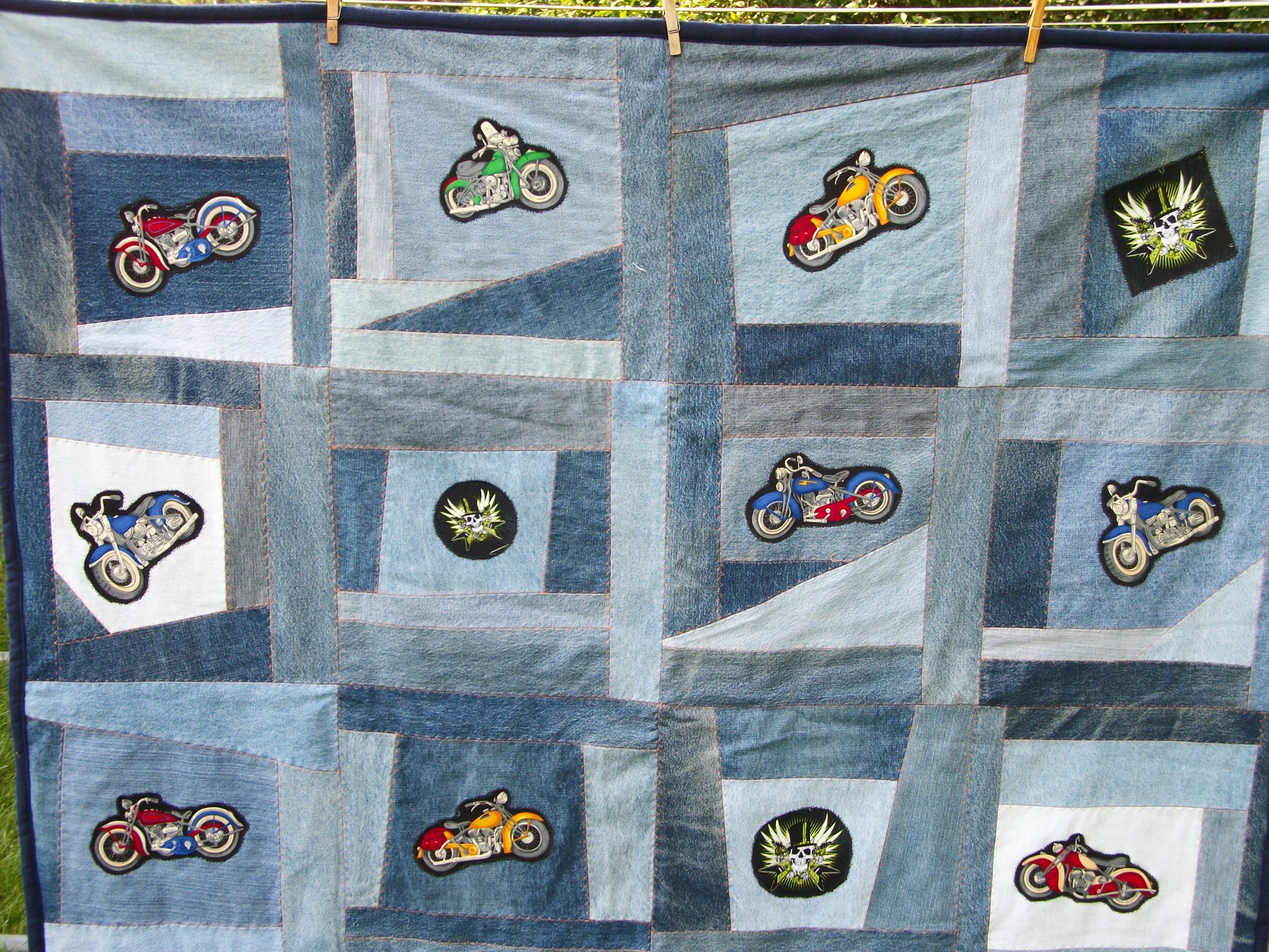 Denim Motorcycle Quilt   Quilts   Pinterest   Quilt and Motorcycles : motorcycle quilt pattern - Adamdwight.com