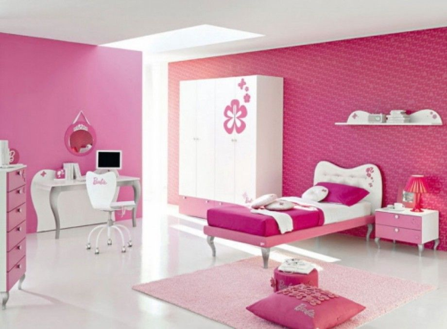Bedroom Interior Design Cute Pink And Purple Teenage Girls Bedroom