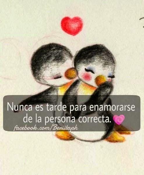 Resultado De Imagen Para Pinguinos Enamorados Frases Para Mi Amor