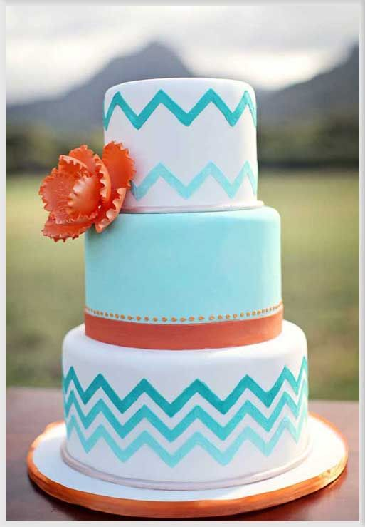 Chevron Cakes Wedding Cake Inspiration