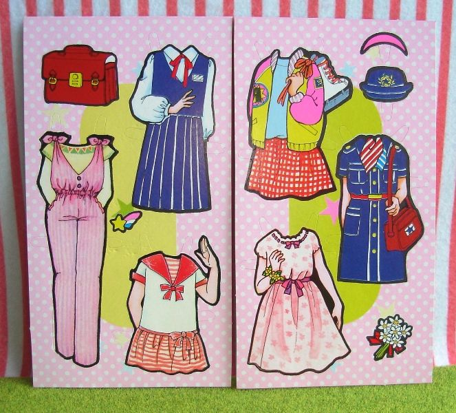 vintage japanese retro toys, toy, paper doll, dolls ...