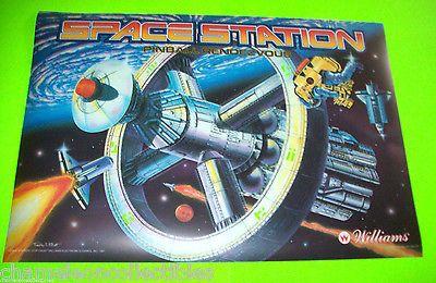 SPACE-STATION-By-WILLIAMS-1987-ORIGINAL-NOS-PINBALL-MACHINE-TRANSLITE-BACKGLASS  #pinballart #spaceage #pinball