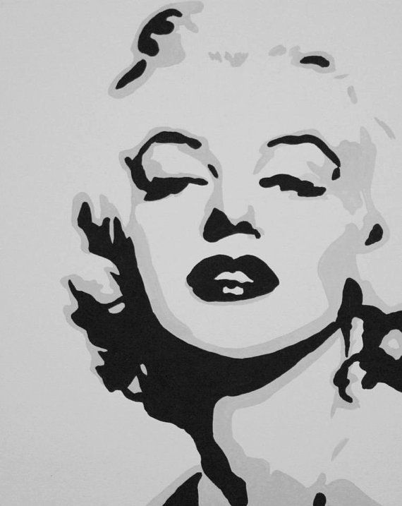 marilyn monroe custom hand painted acrylic on canvas 16x20. Black Bedroom Furniture Sets. Home Design Ideas