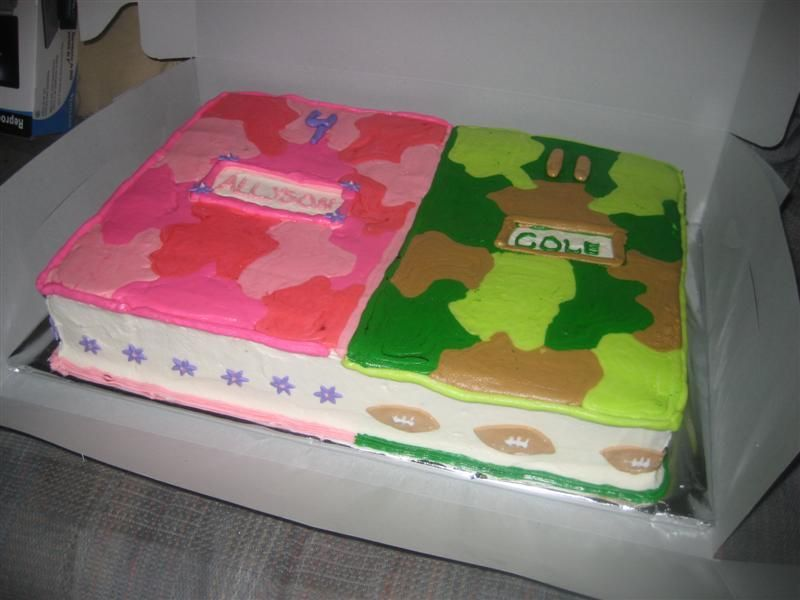 Pink Camo Cakes For Girls Camo Childrens Birthday Cakes