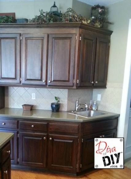 Kitchen cabinets colors builder grade 45+ ideas | Stained ...