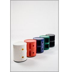 ABS Plastic Side Table by Pink & Brown