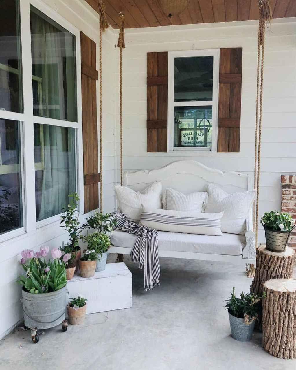 25 inspiring farmhouse porch swing outdoor ideas in 2020