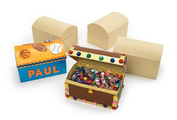 Colorations Decorate Your Own Papier Mache Treasure Chests