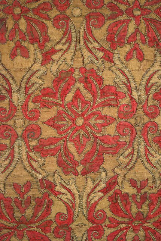 18th Century Antique European Graphic Antique Spanish Textiles