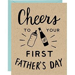 Cheers First Father's Day Card