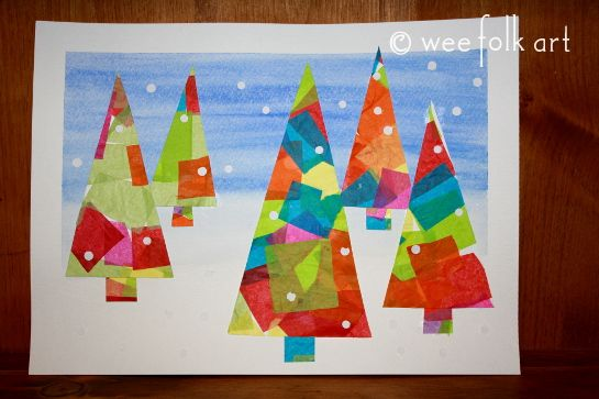 Love this craft! Contemporary, cool and easy for little ones to do ...