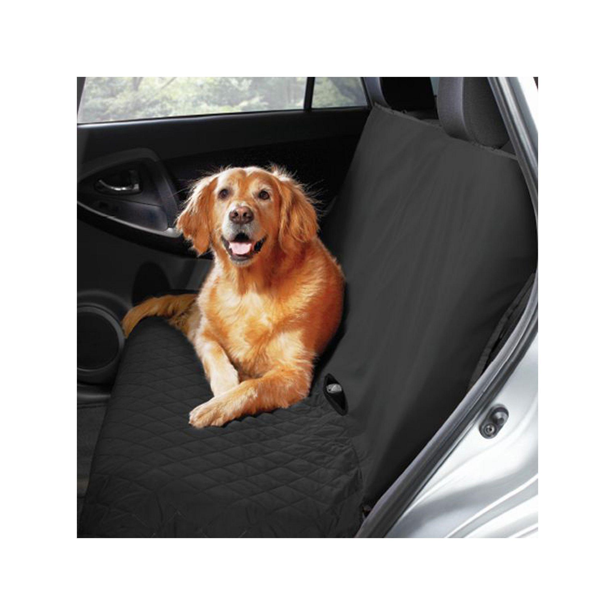 Yes Pets Waterproof Back Seat Cover, Black Pet car seat