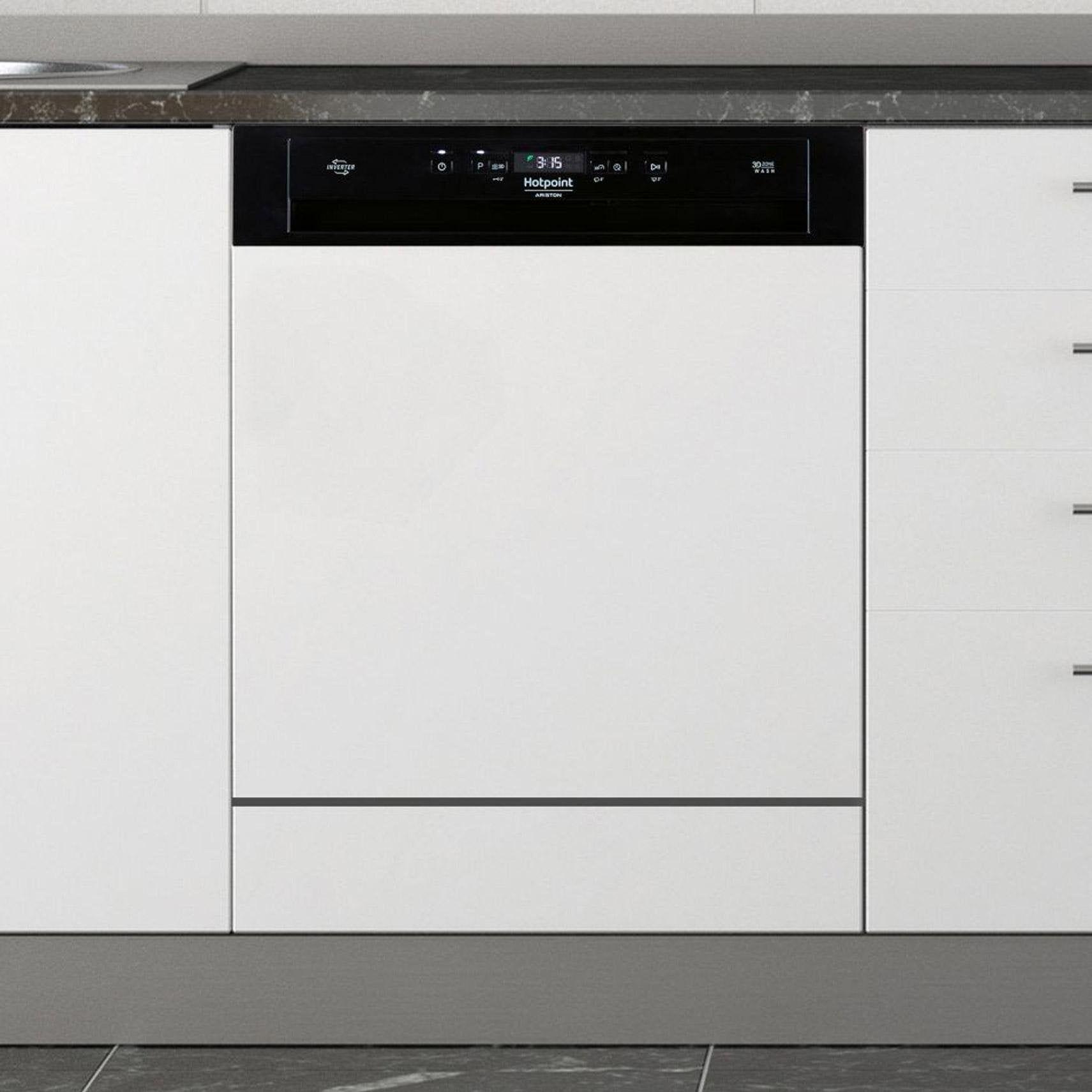 Lave Vaisselle Encastrable L595 Cm Hotpoint Hbo 3t21 W B