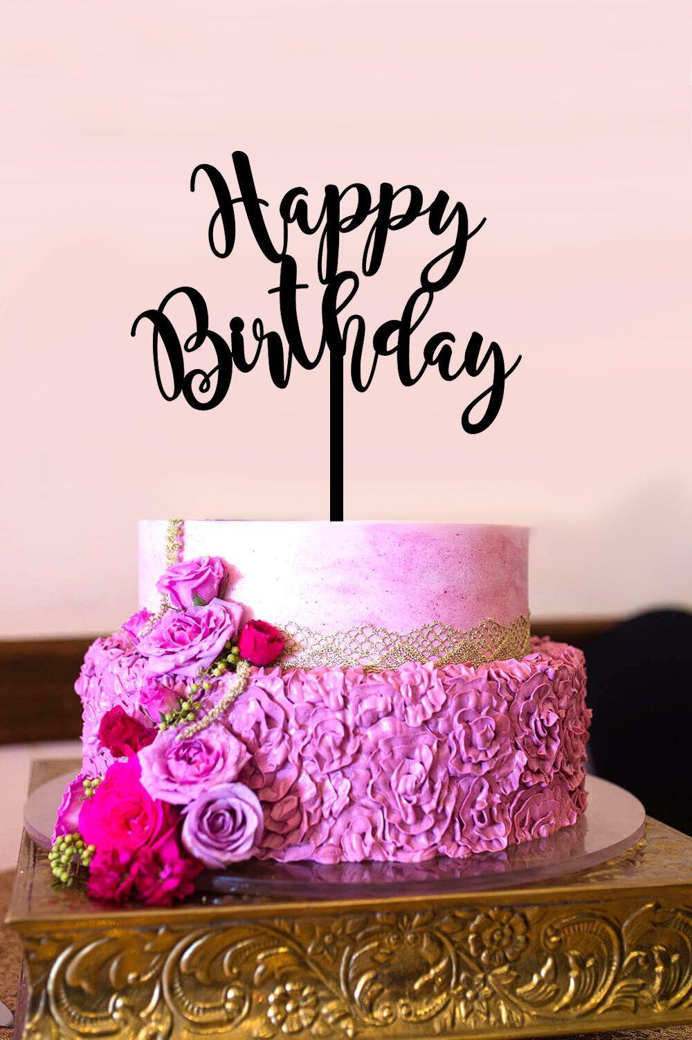 Sensational Happy Birthday Cake Topper Birthday Topper Gold Cake Topper Personalised Birthday Cards Arneslily Jamesorg