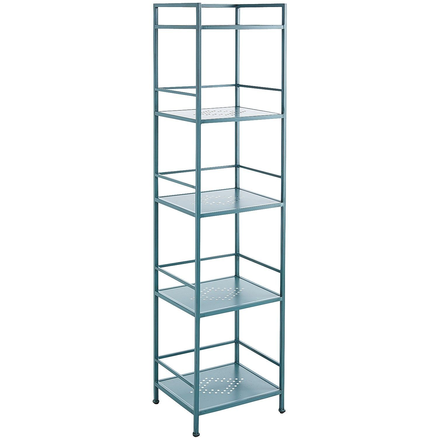 Weldon Tall Shelf - Teal | Pier 1 Imports For small corner near ...
