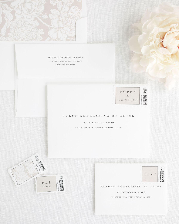 Poppy Wedding Invitations   Invitation envelopes, Hydrangea and Peony