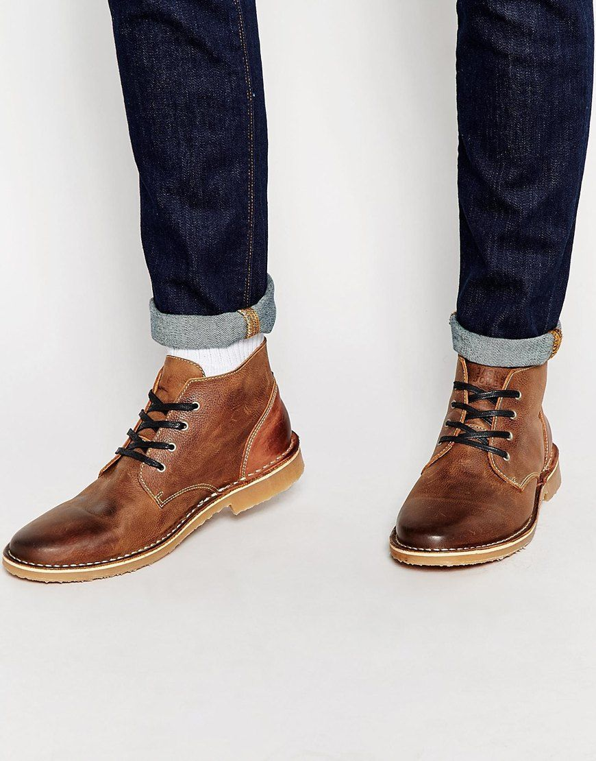 I know you want this Jack  amp  Jones Gene Leather Desert Boots - Brown - a682d1ae2d13