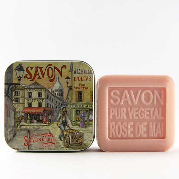#FrenchFixe Savonnerie de Nyons May Rose Soap / Rose de Mai -3.5 oz / 100 gr