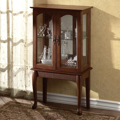 small standing curio cabinet display case need something like this