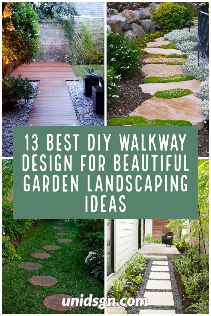 13 Best Diy Walkway Design For Beautiful Garden Landscaping Ideas Home Apartment Ideas In 2020 Beautiful Gardens Walkway Design Garden Landscaping