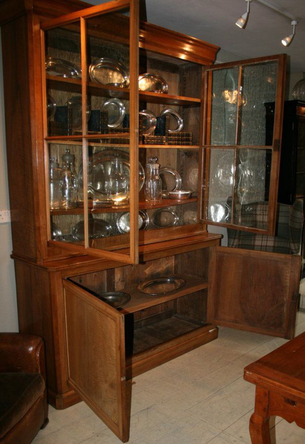 doors glass carved pine small bookcases moulding feet antique of bookcase cherry with door book double heirloom pair