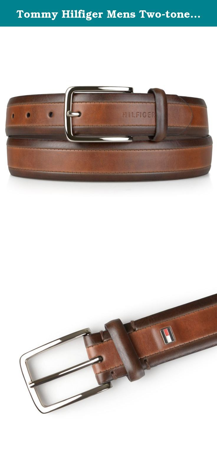 c879af40d772 Tommy Hilfiger Mens Two-tone Genuine Leather Belt. Complete your outfit  with this genuine