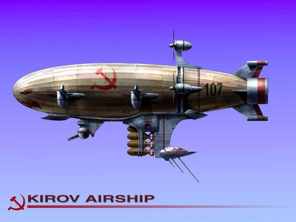 Dirigible Airships | Kirov Airship ( from Red Alert 3 ) Minecraft