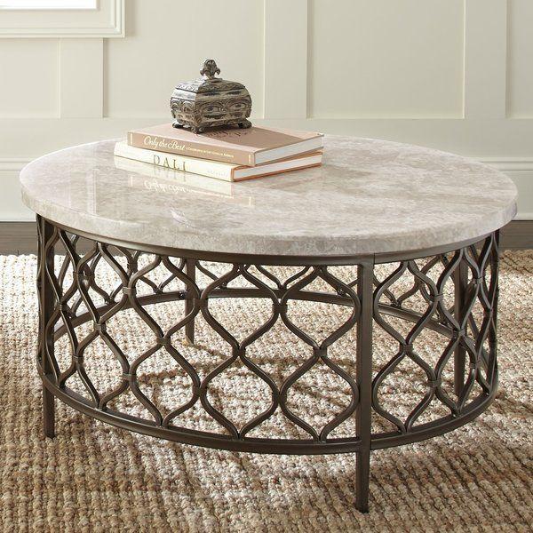 Akbar Coffee Table Stone Coffee Table Round Coffee Table