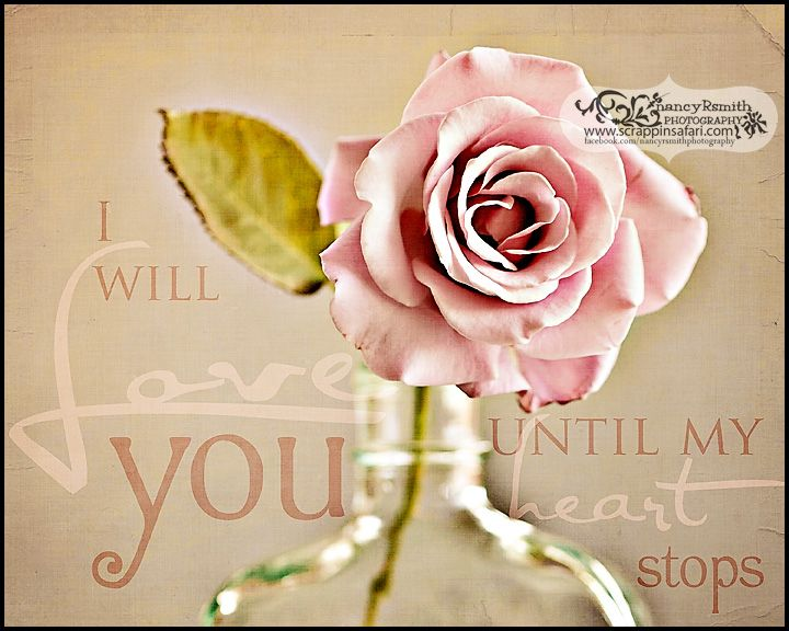 I will love you until my heart stops