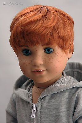 American Girl Doll Boy Red Hair Blue Eyes Freckles American