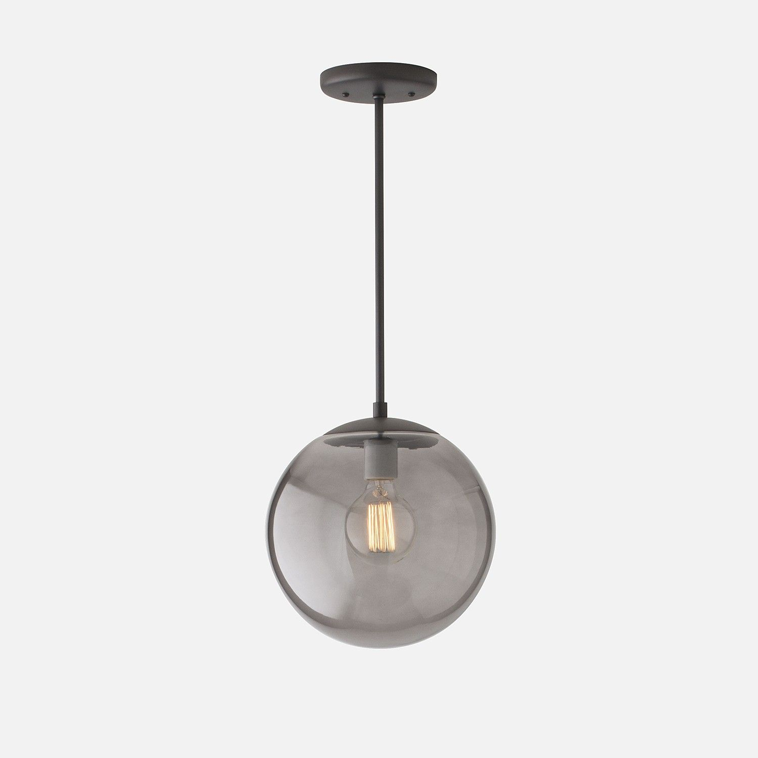 vintage lighting pendants. Luna Pendant Rod - True Black With 12\ Vintage Lighting Pendants T