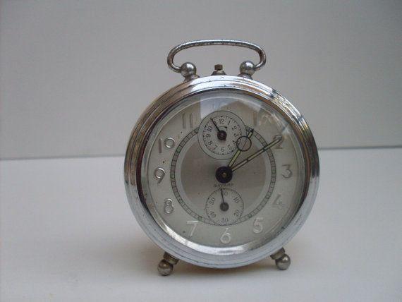 Vintage French Alarm Clock Bayard Home By Theatticoffrance