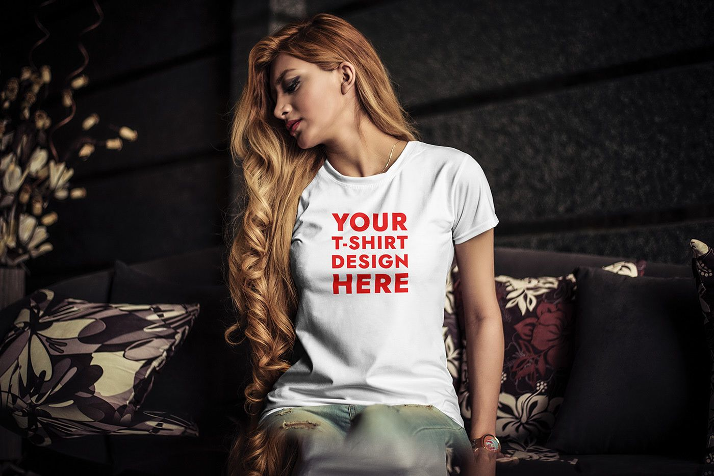 Download Free Young Woman T Shirt Mockup Psd On Behance