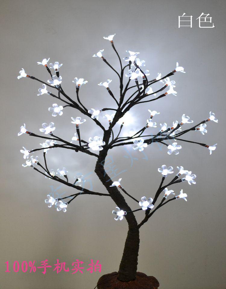 64 Led Cherry Blossom Tree Light In 70cm Height Holiday Blossom Tree Light Standing Cherry Tree Light Wedd Lights Wedding Decor Wedding Lights Blossom Trees