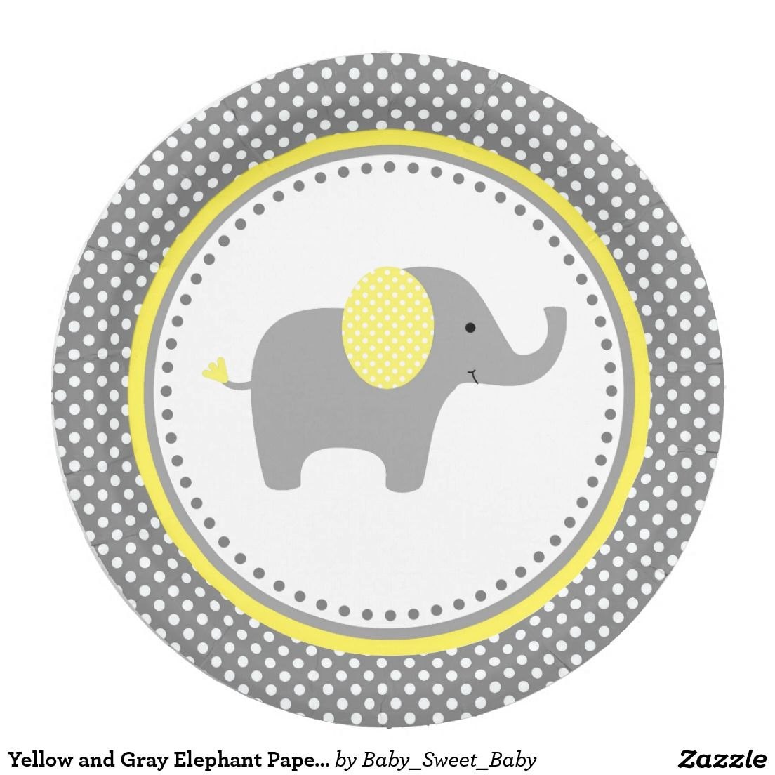 Yellow and Gray Elephant Paper Plates  sc 1 st  Pinterest & Yellow and Gray Elephant Paper Plates | Grey elephant