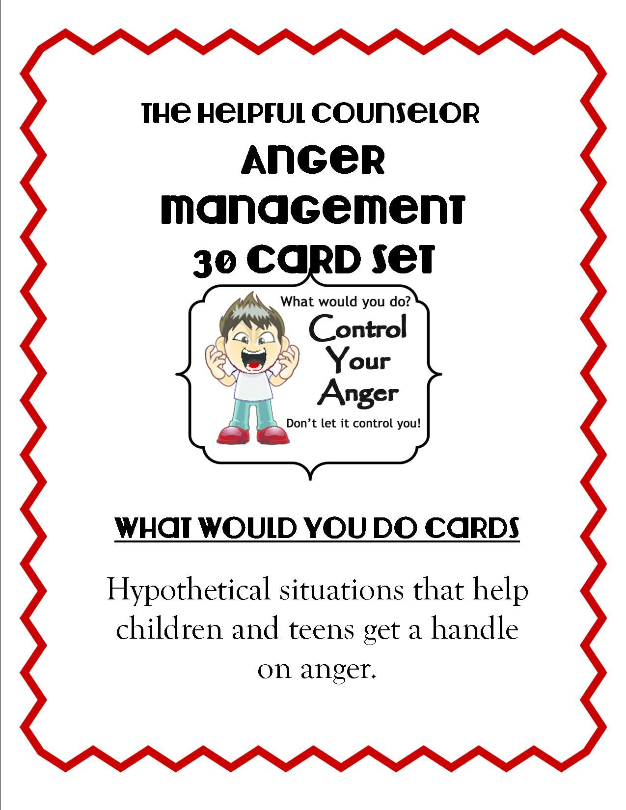 Anger Management What Would You Do Cards