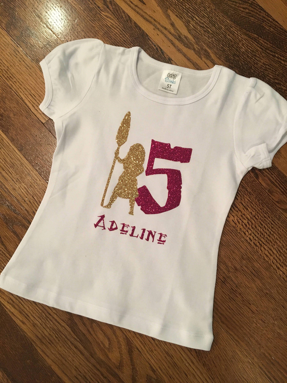 Moana Birthday Shirt Personalized
