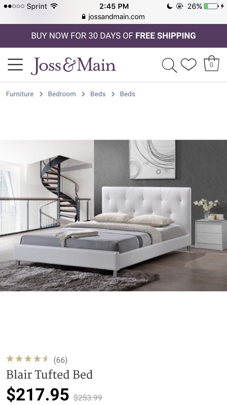 Upholstered Platform Bed Image By Kimberly Lynn On Decor
