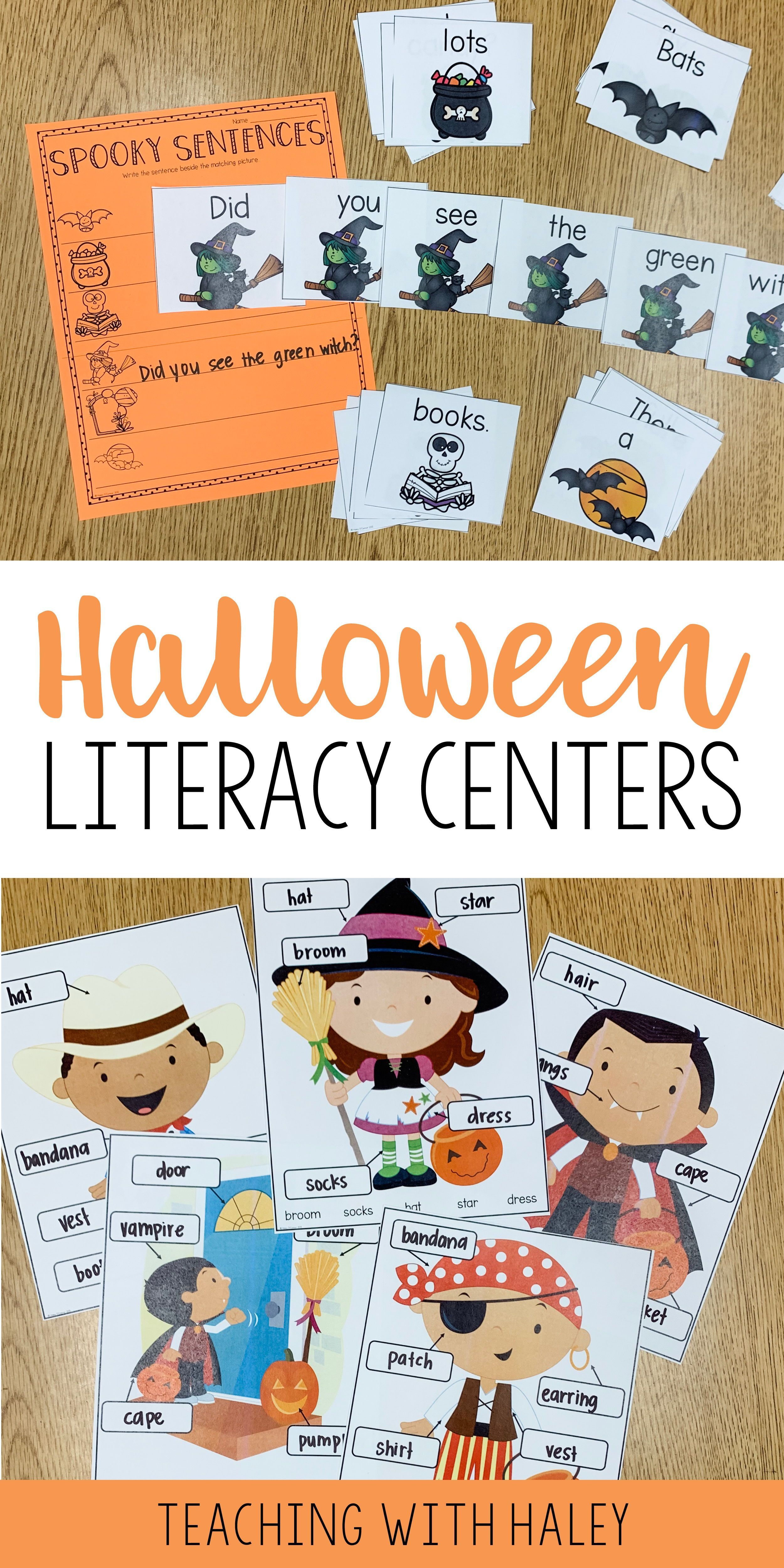 Halloween Centers And Literacy Workstations