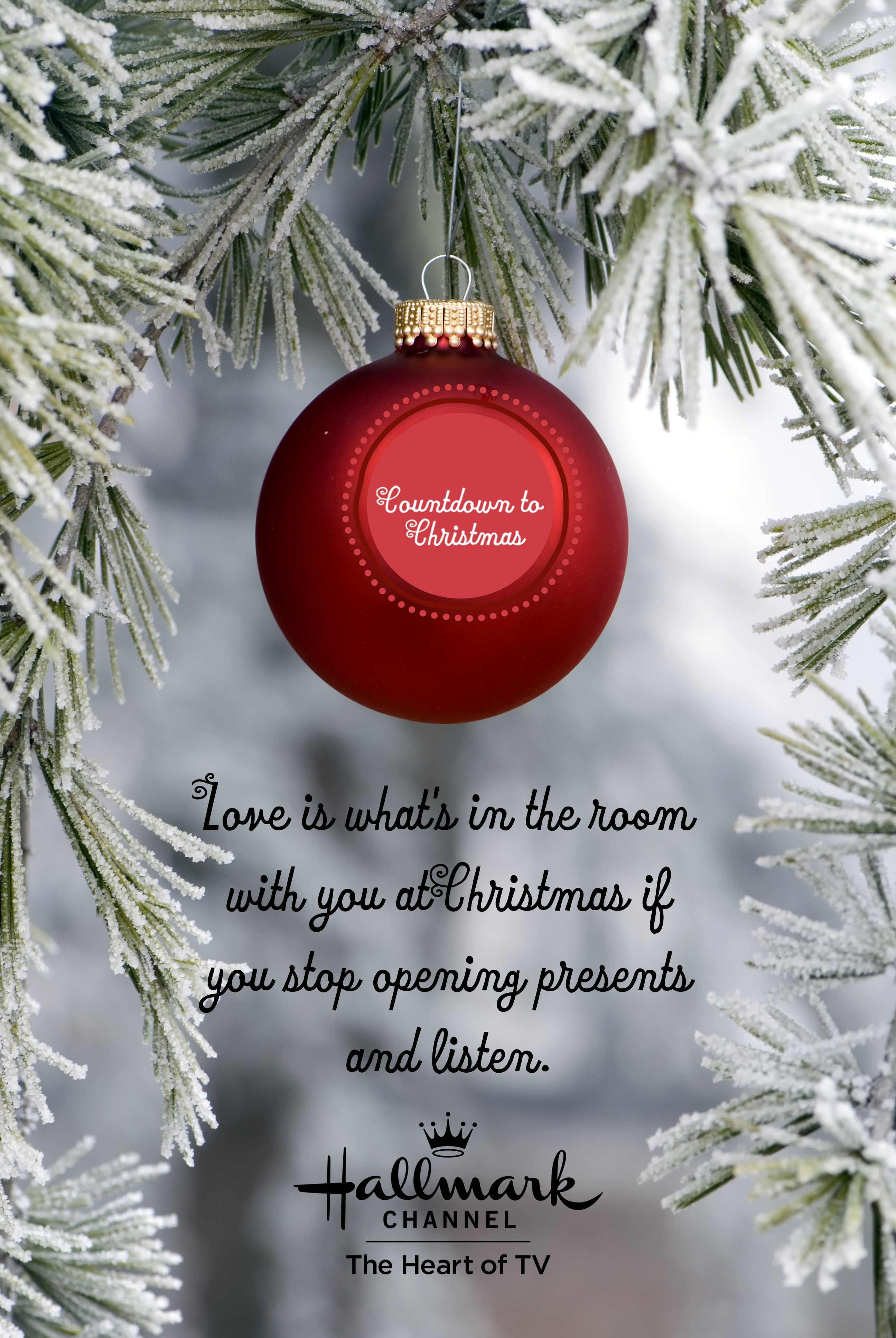 Love Is What S In The Room With You At Christmas If You Stop Opening Presents And Listen Christmas Countdown Christmas Fun Hallmark Channel Christmas Movies