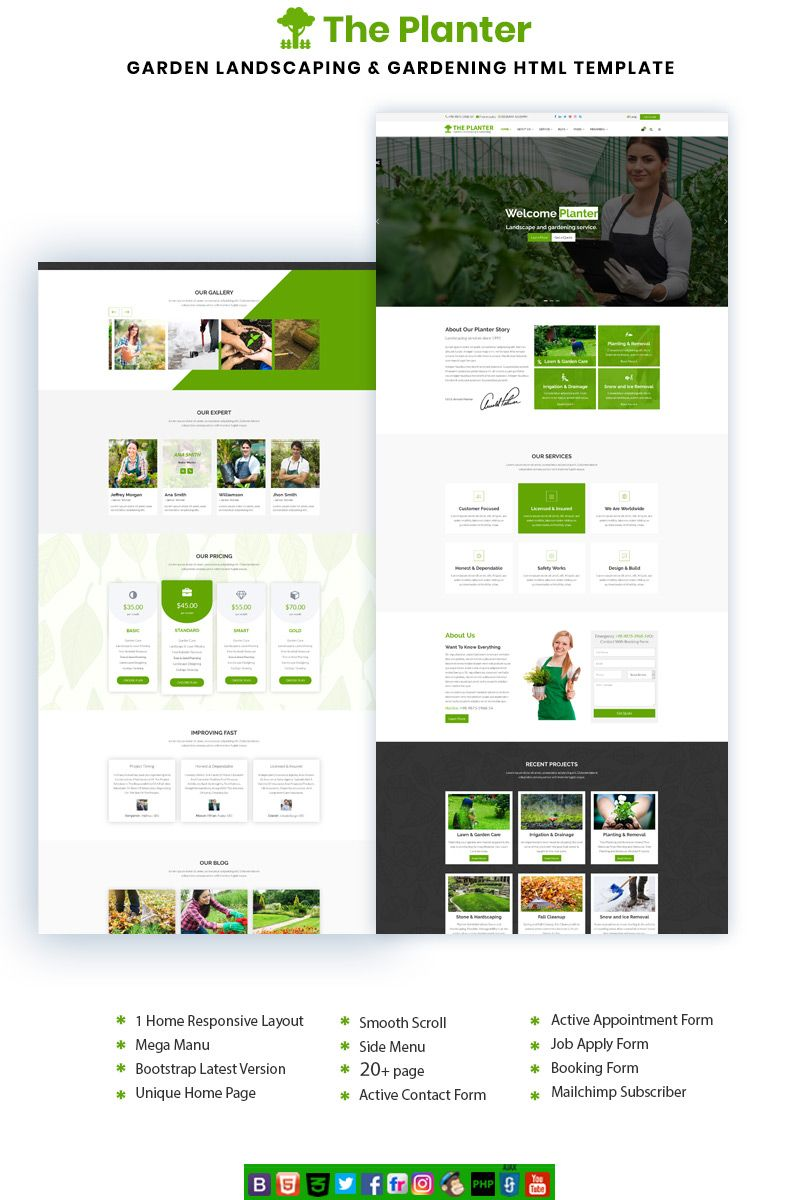 The Planter Website Template