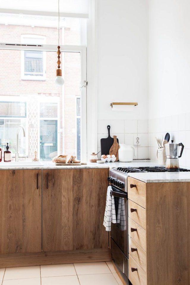 Une Cuisine Douce Et Naturelle Interieur De Cuisine Cuisine Bois Idees Decoration Maison